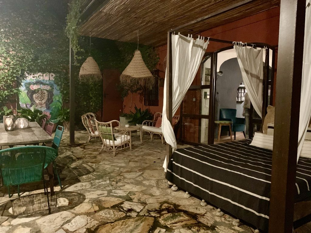 Outdoor lounge area of the Hotel Aiguaclara.