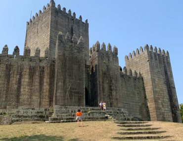 Castle of Guimarães, constructed in 10th century and birthplace of the king Afonso Henrique of Portugal,