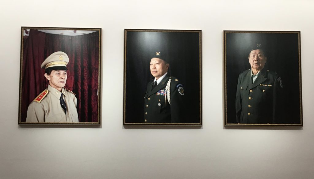 Modern art photography portraits of Hmong veterans of the Secret War