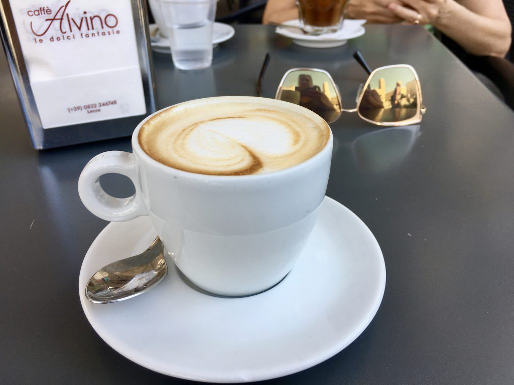 close up of a capucchino