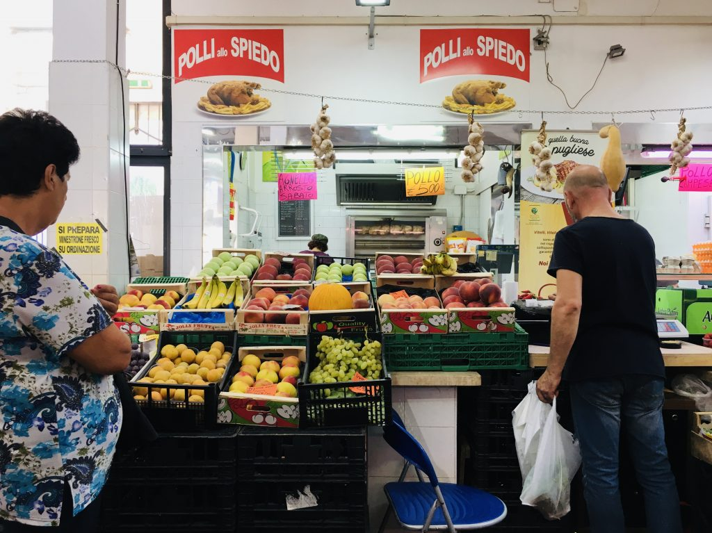 Italian produce stand