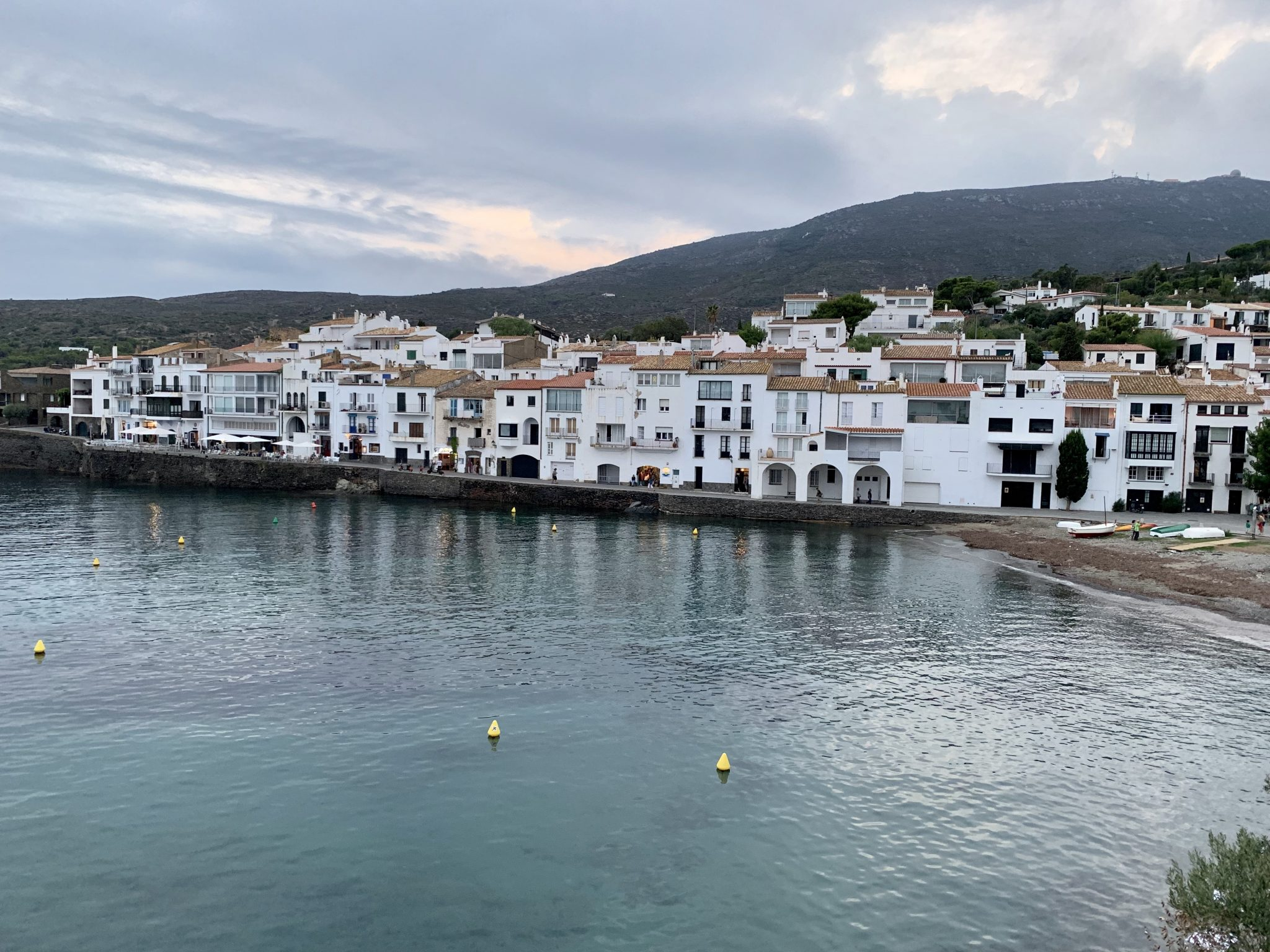 Sunset view over the town of Cadaques.