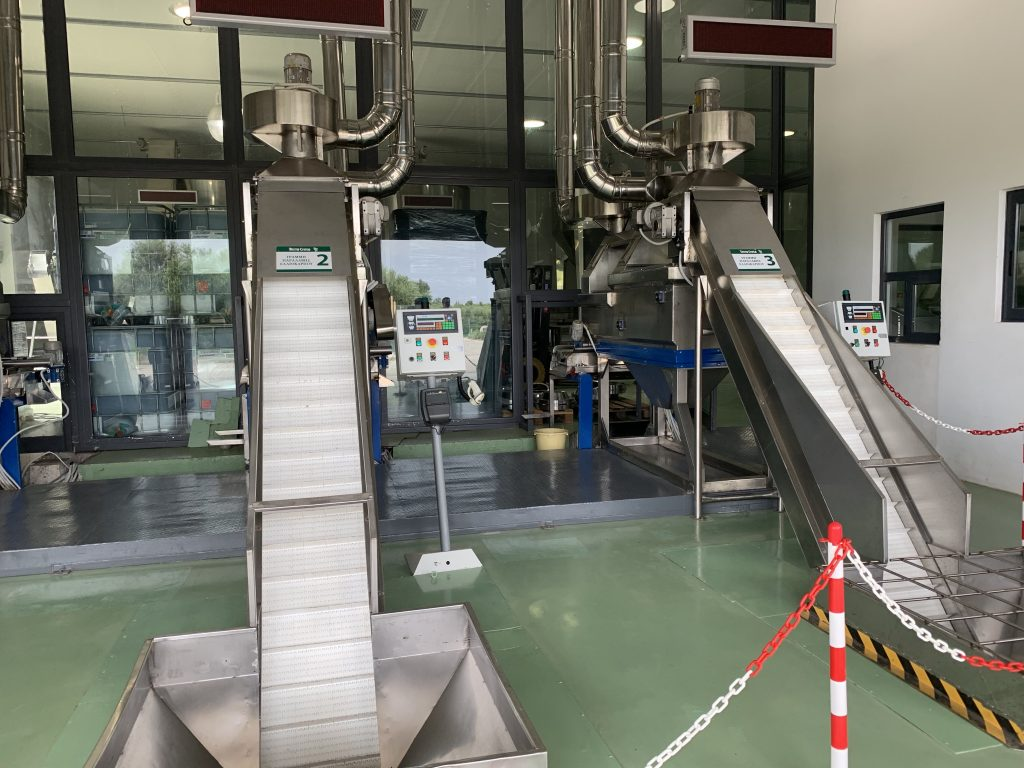 olive oil processing machinery